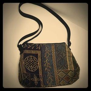 Cute embroidery cloth purse ladies hand bag boho